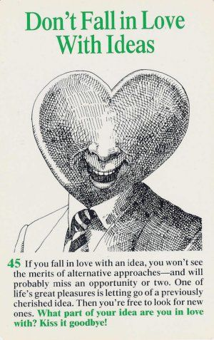 Don't Fall in Love with Ideas
