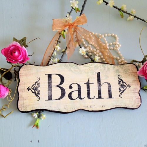 Bath Sign with ribbon €12.99