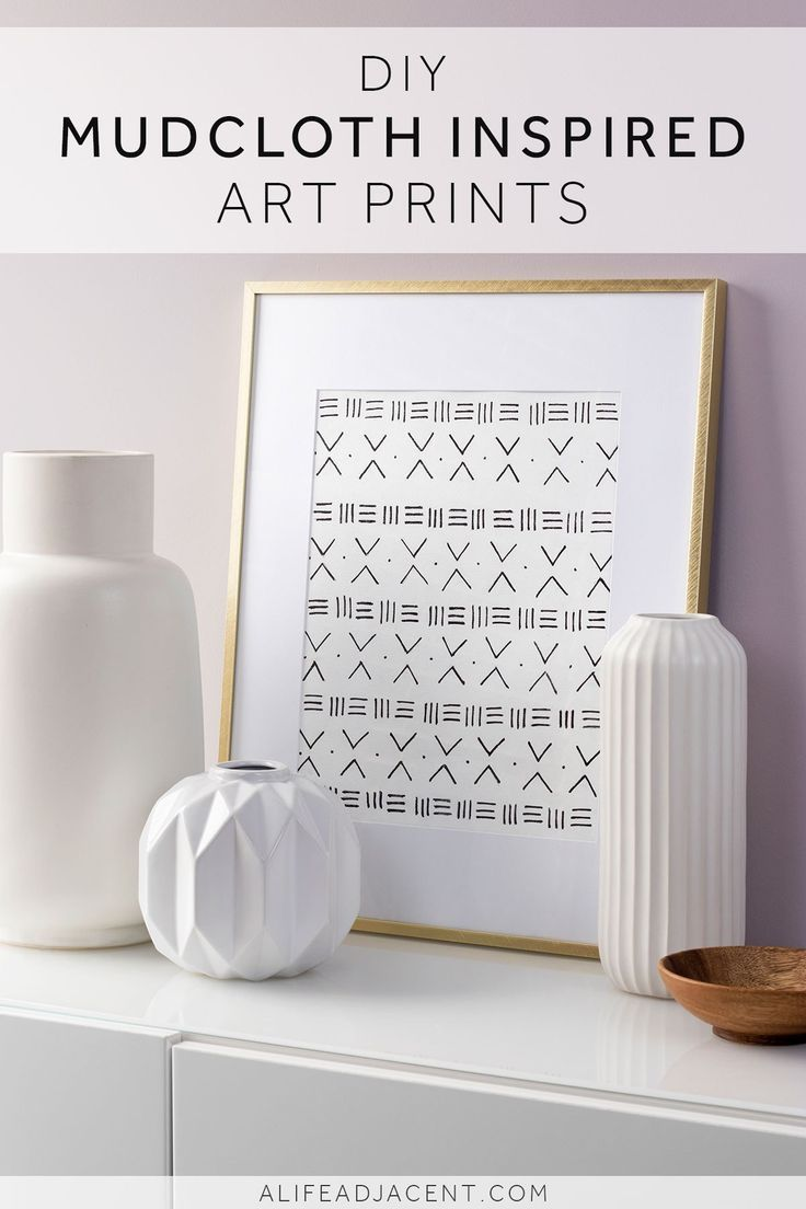 Learn To Create Beautiful Diy Prints Inspired By African Mudcloth With This Easy Tutorial Make Your Own Pattern Or Feel Free To Use The Sample Designs