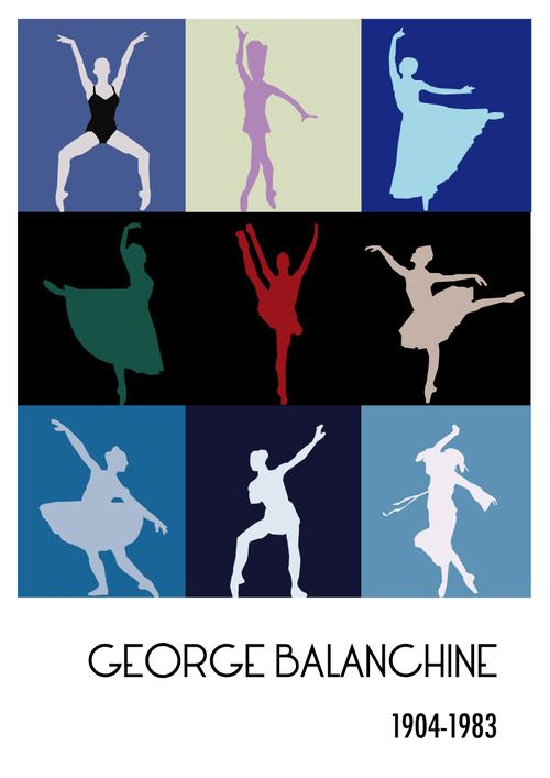 We love.... this george balanchine minimalist poster. One of the great ballet masters