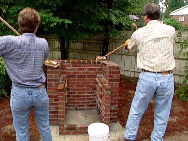 como construir um grelhador de tijolos