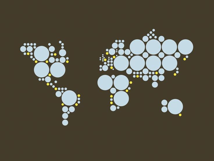 """Bo Lundberg # 10 - """"Worldmap""""  Archival Inkjet Print"""