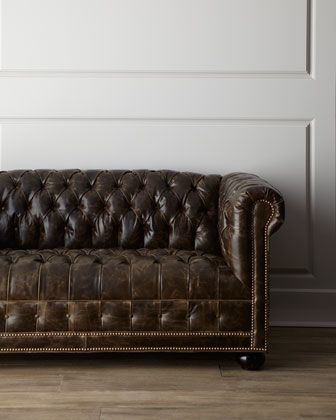 best 25 tufted leather sofa ideas on pinterest restoration hardware lamps industrial sleeper sofas and leather sofa - Distressed Leather Sofa