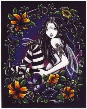 myka jelina art | Gothic Kunst von Myka Jelinas. Der Wasp Aufkleber eine schöne fantasy ...