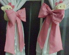 Prendedor de cortina laços rosa antigo
