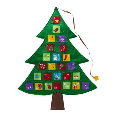 Green Christmas tree advent calendar at debenhams.com