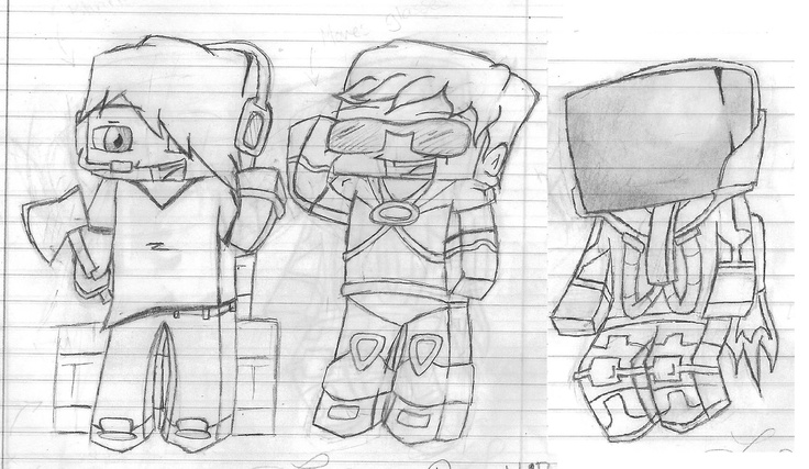 A Skydoesminecraft Deadlox And Minecraft Universe Sketch