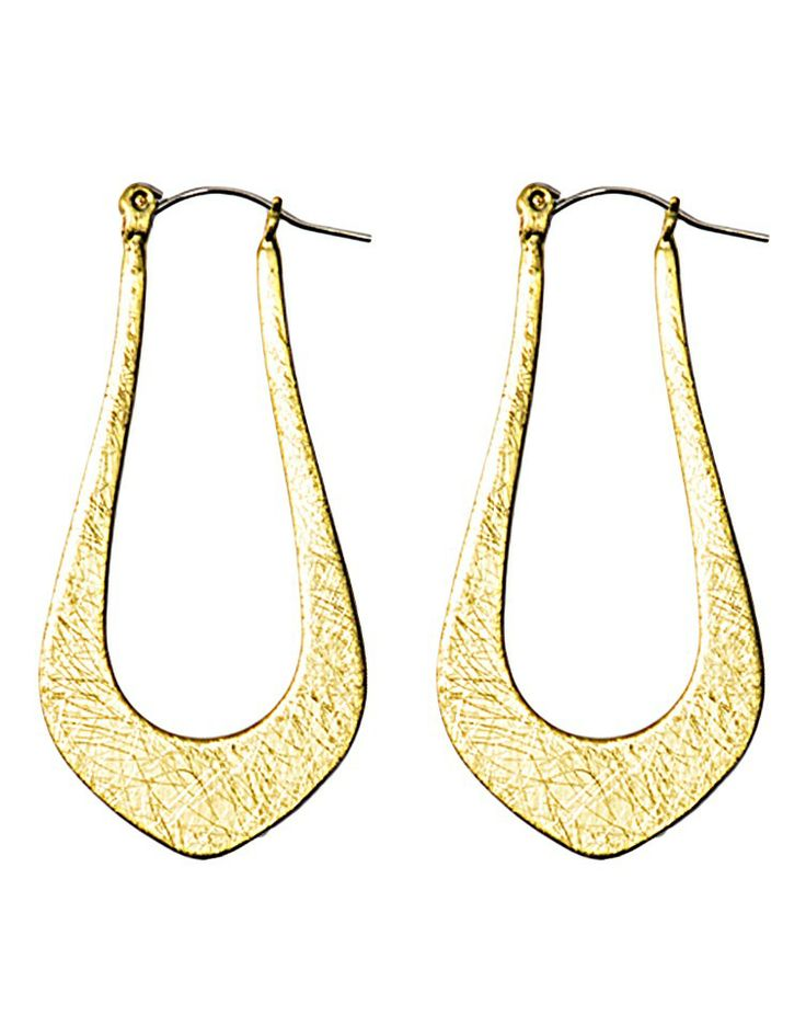 SASHAS STATE OF MIND   Triangular Hoop Earrings in Gold -  - Style36