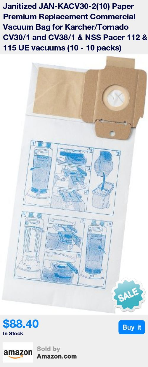Premium replacement commercial vacuum bags can be used for karcher/tornado, NSS Pacer vacuum cleaners * 2 ply, micro filter designed specifically for commercial use * Premium filter bag that meets or exceed OEM filter efficiency * Each filter bag is printed to easily identify the vacuum it fits