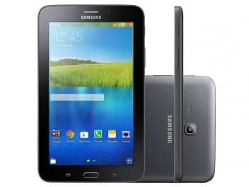 "Tablet Samsung Galaxy Tab E 8GB Tela 7"" Wi-Fi - Android 4.4 Quad-Core Câm. 2MP + Frontal 2MP GPS"