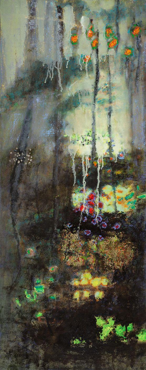 "Hidden Beneath | oil on canvas | 48 x 19"" | 2014"