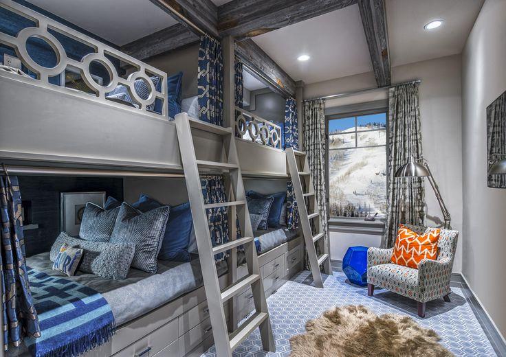 Custom Bunk Room at Deer Valley Ski Resort in Park City Utah [4004  2831] [OC]
