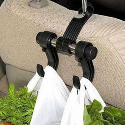 Schwarz Automotive Auto Rücksitz Haken für Grocery Shopping Auto Aufhänger Flexible Auto Rack Clip Auto Kopfstütze Taschenhaken