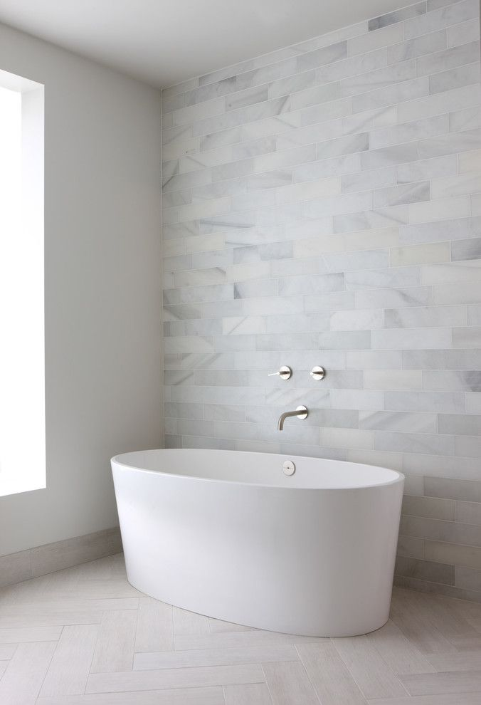 Modern Bathroom   Love The Gray Tiles, Would Be Great With A White Tile Wall