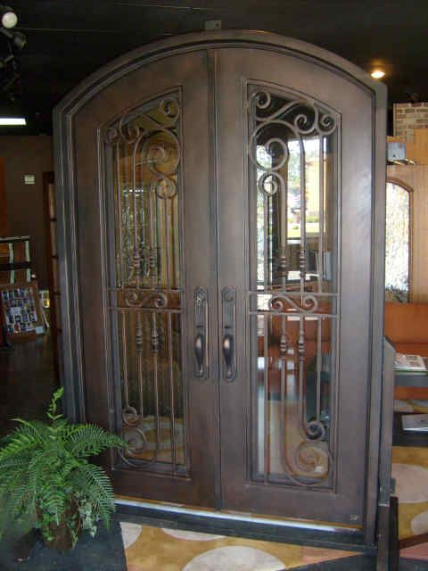 Florida approved hurricane rated iron door.