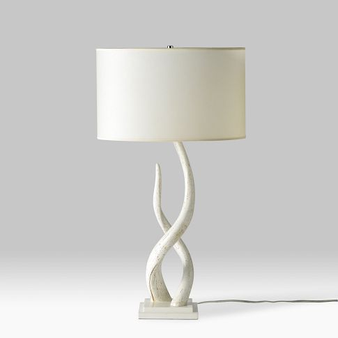 Source Kudu Table Lamp. Senufo Bench. Part of @west elm's South African collection - in conjunction with @ELLE DECOR.