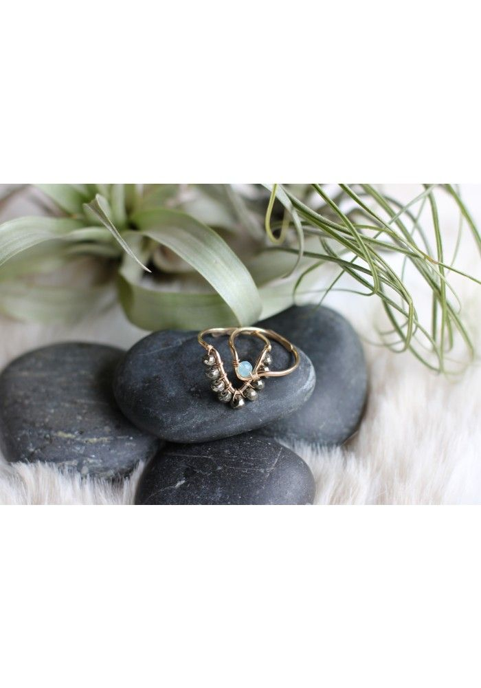 Muse Single Stone Triangle Ring
