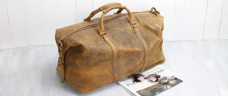 leather duffle bag by scaramangashop.co.uk