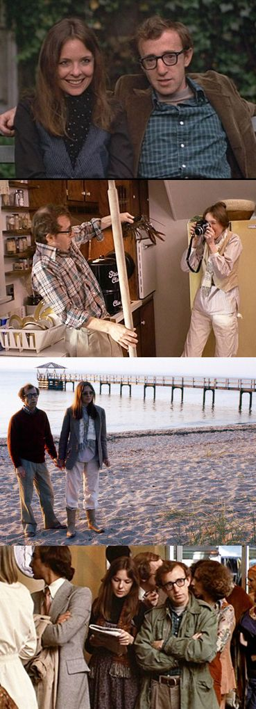 Woody Allen and Diane Keaton in Annie Hall (1977), written and directed by Woody Allen