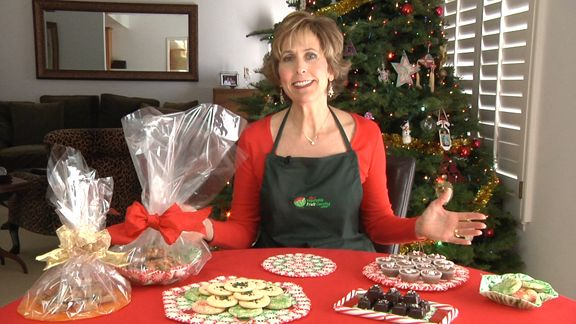 Nita Gill shows how to make Christmas Candy Platters made from mint candies at http://www.vegetablefruitcarving.com/blog/christmas-candy-platters