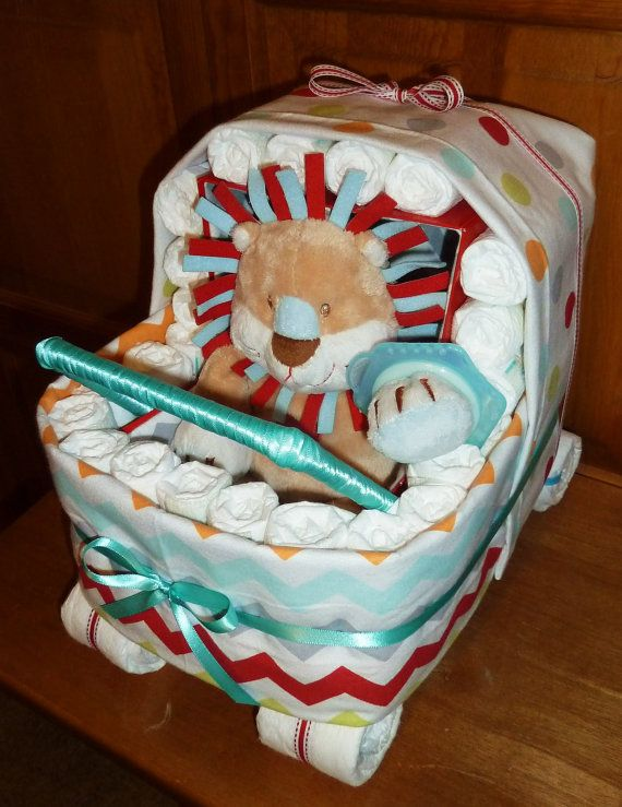 Diaper Stroller  Custom by DiaperCreationsByD on Etsy, $80.00