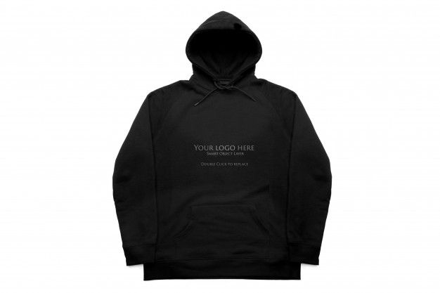 Download Black Hoodie Isolate Mockup Front View Black Hoodie Hoodies Mockup