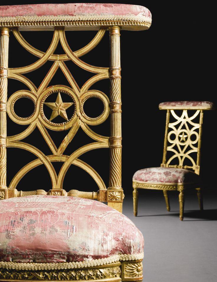 A pair of Royal carved giltwood and gesso Voyeuses by Jean Baptiste Claude  Sen   Sticks FurnitureGeorgian FurnitureAntique. 248 best Antique French Furniture images on Pinterest   Antique