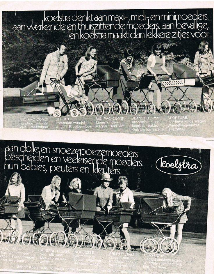 Oude advertentie Koelstra kinderwagens 1971 retro prams