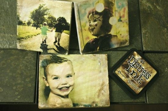 I really want to do this soon!  Tile your pictures instead of framing.
