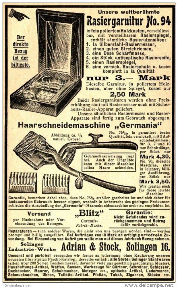 Original-Werbung/ Anzeige 1905 - RASIER - GARNITUR / HAARSCHNEIDE- MASCHINE…