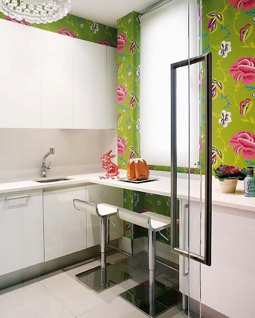 Die besten 25+ Green kitchen wallpaper Ideen auf Pinterest ...