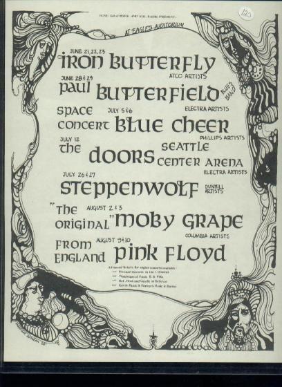 Handbill Pink Floyd Eagles Auditorium