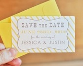 save the date - yellow and grey (simple and sweet)