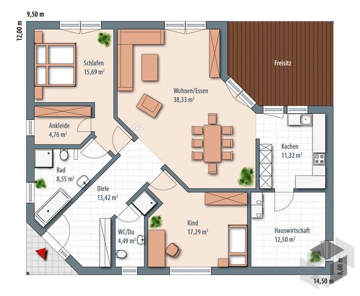 die besten 25 grundrisse ideen auf pinterest haus grundrisse haus layouts und hauspl ne. Black Bedroom Furniture Sets. Home Design Ideas