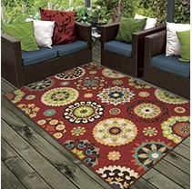 """Salsalito Red Area Rug  (7'8"""" x 10'10"""")"""