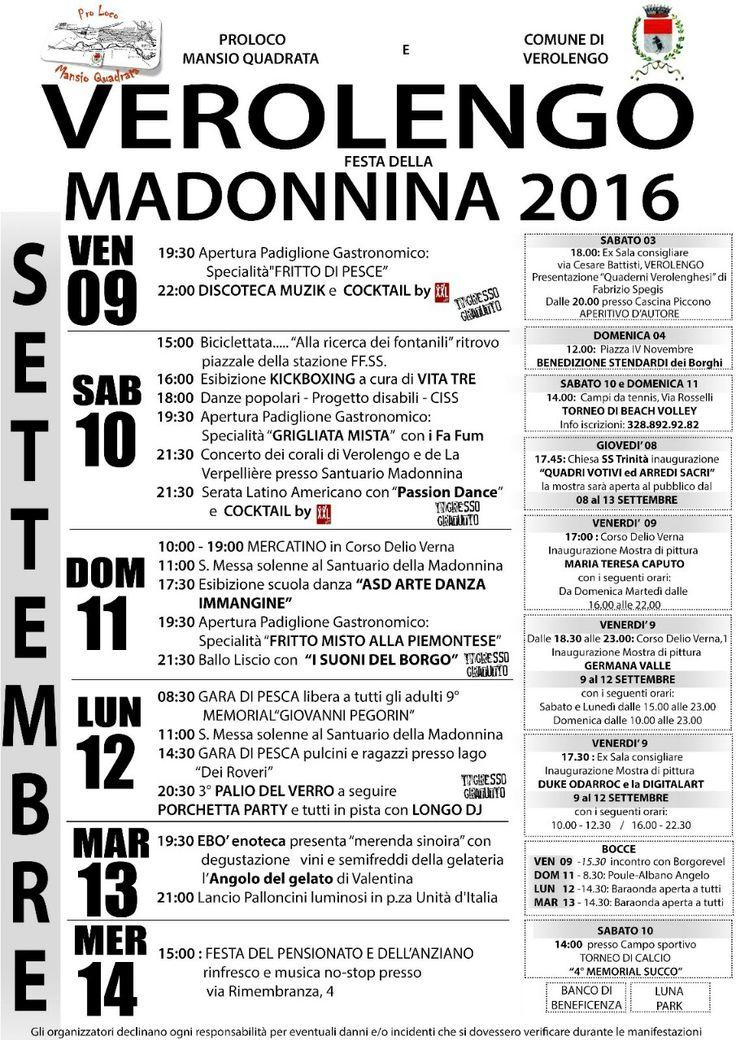 Festa patronale di Verolengo - MADONNINA 2016