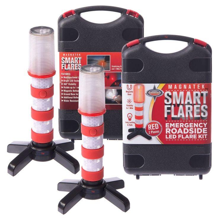 Emergency Road Flares Led Safety Signal Warning Strobe Flashing Light Beacon Red #MagnatekSmartAccessories