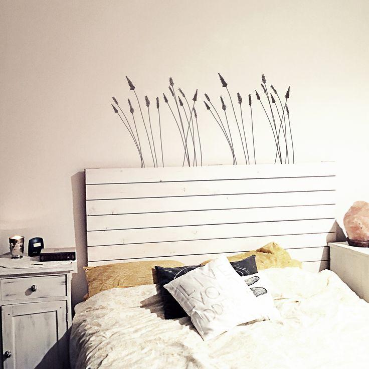 Testata letto in legno bianca  - Shabby Look