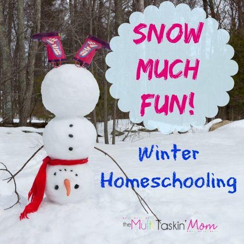 Snow much fun - winter homeschooling, Having snow much fun learning, learning in winter can be snow much fun!