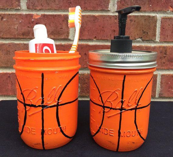 Hand Painted Basketball Soap Dispenser  Basketball Bathroom Set  Basketball  Birthday Gift  Basketball ChristmasBest 25  Bathroom sets ideas on Pinterest   Guest bath  Bathroom  . Orange And Grey Bathroom Accessories. Home Design Ideas