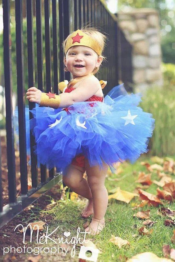 Wonder Woman Tutu Halloween Costume, Baby Costume, Halloween, Super Hero, Baby Costume, Toddler Costume