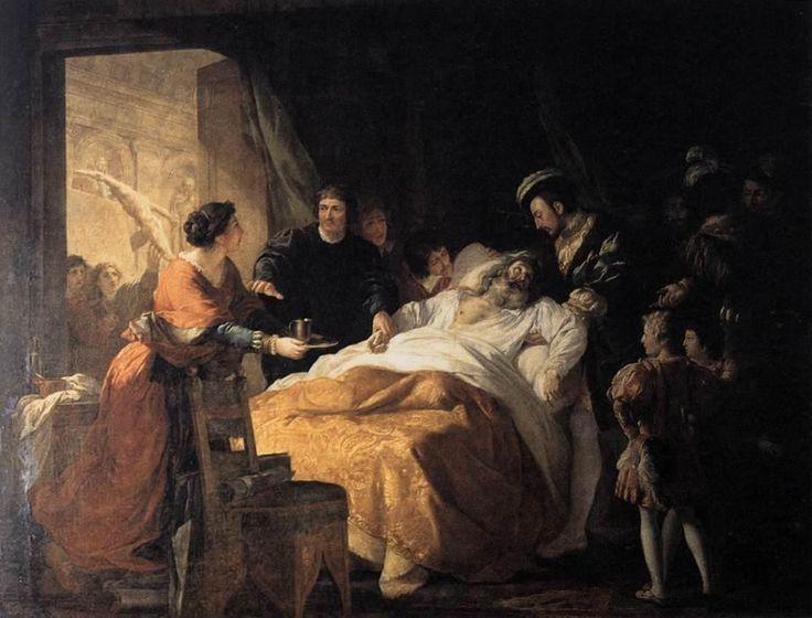 Ο θάνατος του Leonardo da Vinci (Πίνακας του Francois Guillaume Menageot)