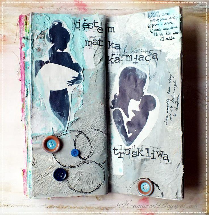 """moja strona do art journala """"o sobie"""""""