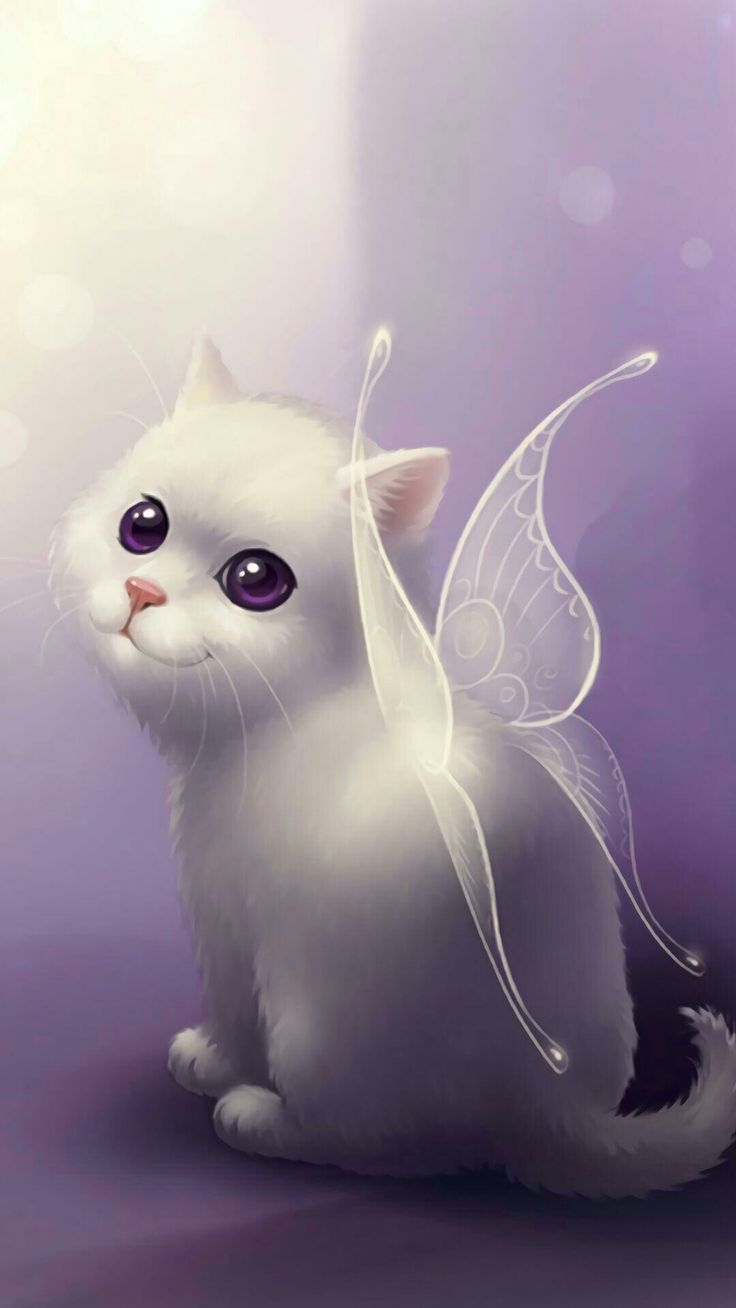 Картинки с рисованными кошками на телефон, доброго дня
