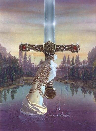 Excalibur & the lady of the lake's hand