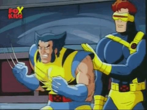 """How Cyclops was always trying to calm Wolverine down. 