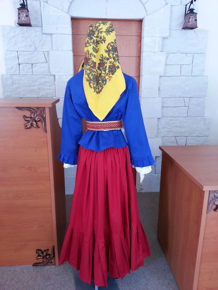 Kythnos island traditional costume Φορεσιά Κυθνου (πίσω όψη)