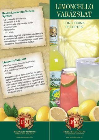 Limoncello varázslat-Long drink receptek