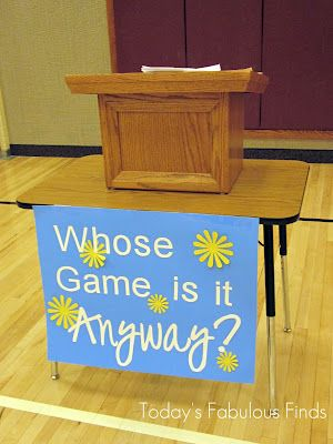 Whose Game is It Anyway? We played this for our Relief Society Birthday Dinner. It took a LOT of work to get all the questions put together. We definitely needed an hour to play it. Unfortunately we only had 20 minutes by the time we got to it. It was a lot of fun. We'll be saving it for another time in the future.