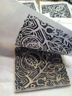 Patty Rybolt Designs - Lino cut and print
